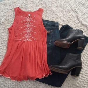 Anthropologie Tops - TINY Coral Tank Top